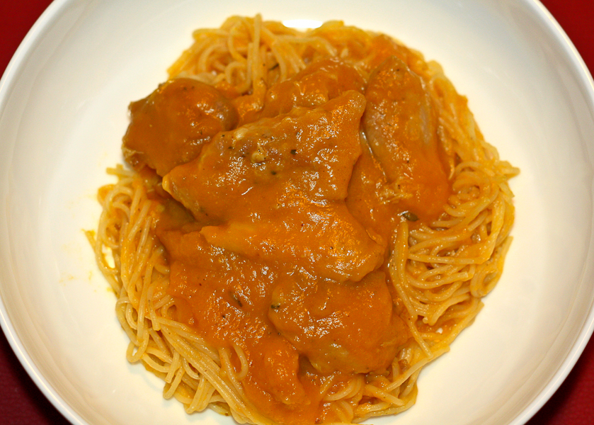 Braised Chicken in Butternut Squash Sauce - Lovely Pantry ...