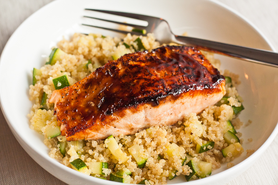 Hoisin Salmon with Quinoa & Zucchini