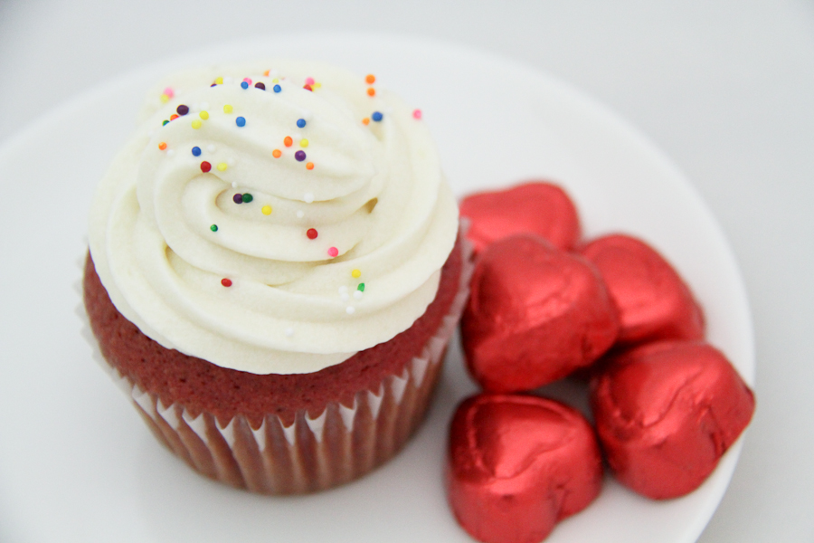 Red Velvet Cupcakes With Cream Cheese Frosting Recipe — Dishmaps