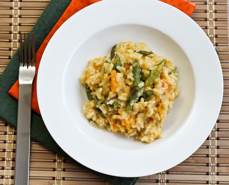 Baked Butternut Squash & Asparagus Risotto #SundaySupper - Lovely ...