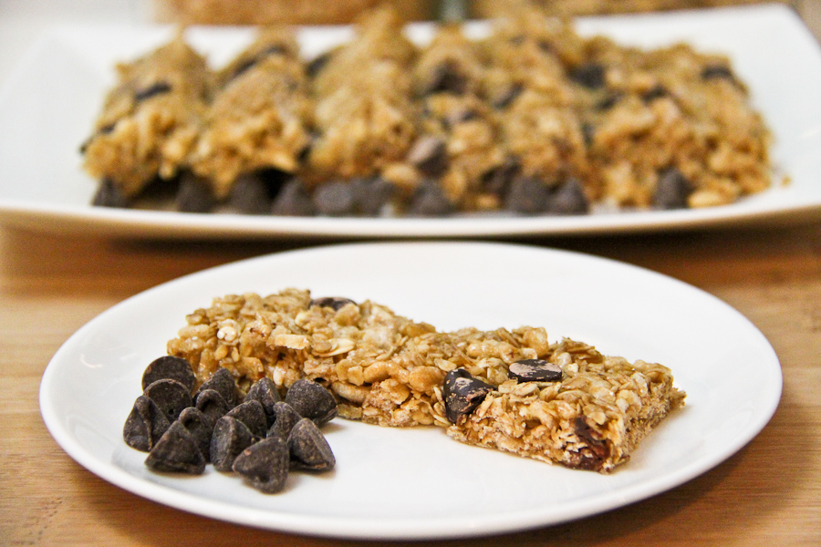 Chocolate Chip Granola Bars, No bake-8