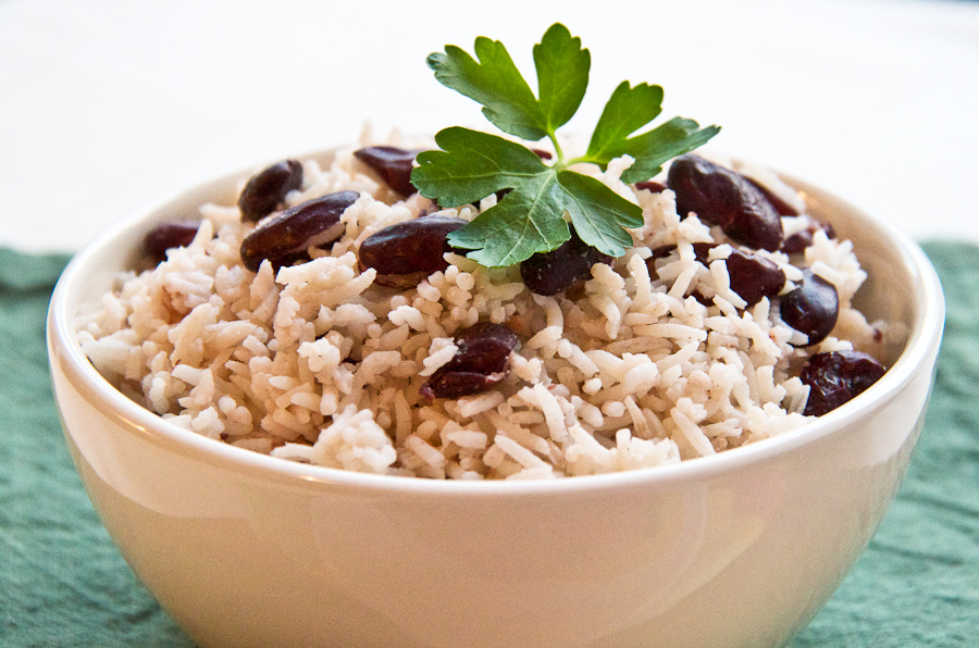 Rice and Peas using Red Kidney Beans