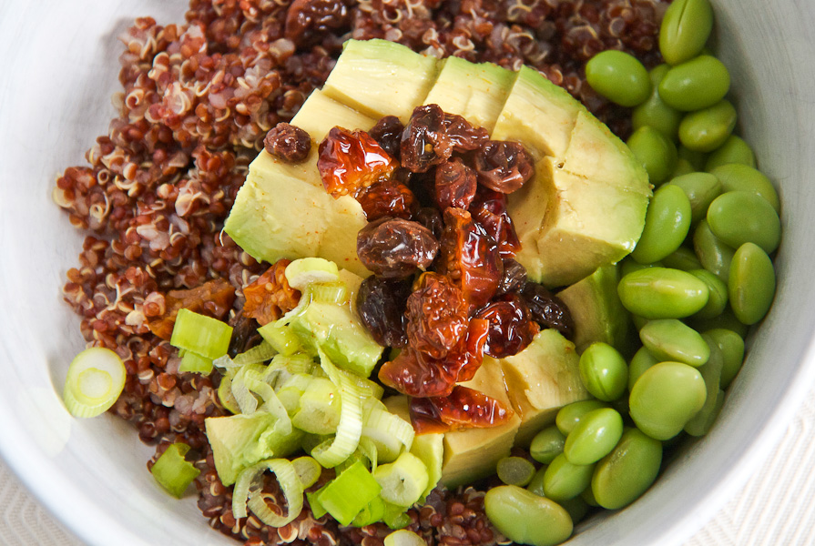 Red Quinoa and Avocado Salad with Goldenberries, Edamame and a Lemon ...