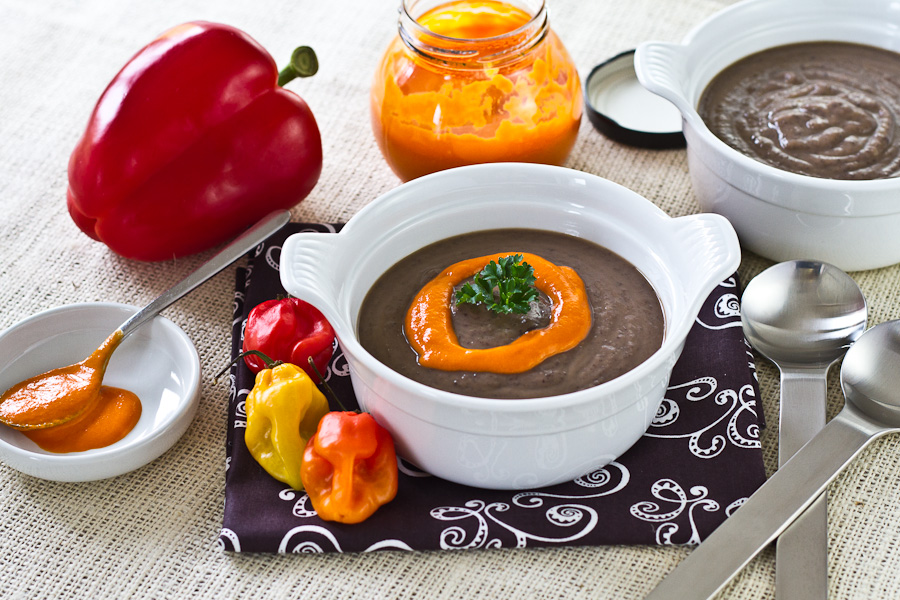 bean soup black bean and roasted pepper soup black bean and black bean ...