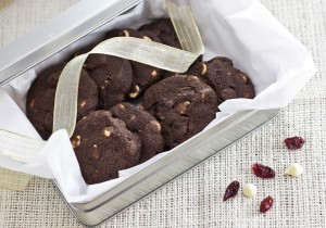 Double Chocolate Cranberry Cookies-7