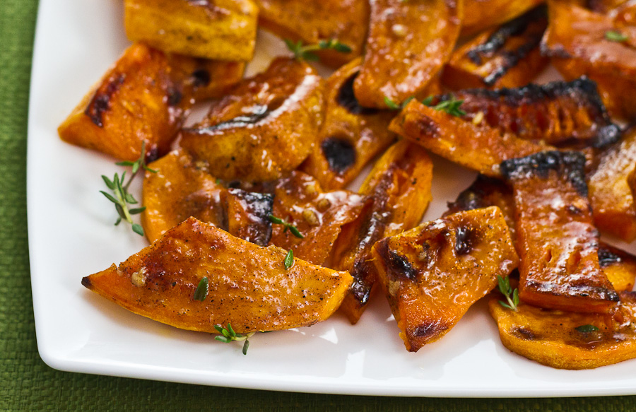 Hot Sweet Potato Wedges with Jerk Butter
