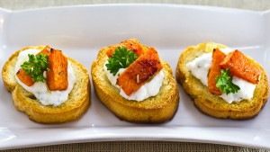 Roasted Pumpkin & Ricotta Crostini-2