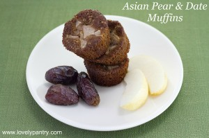 Asian Pear and Date Muffins