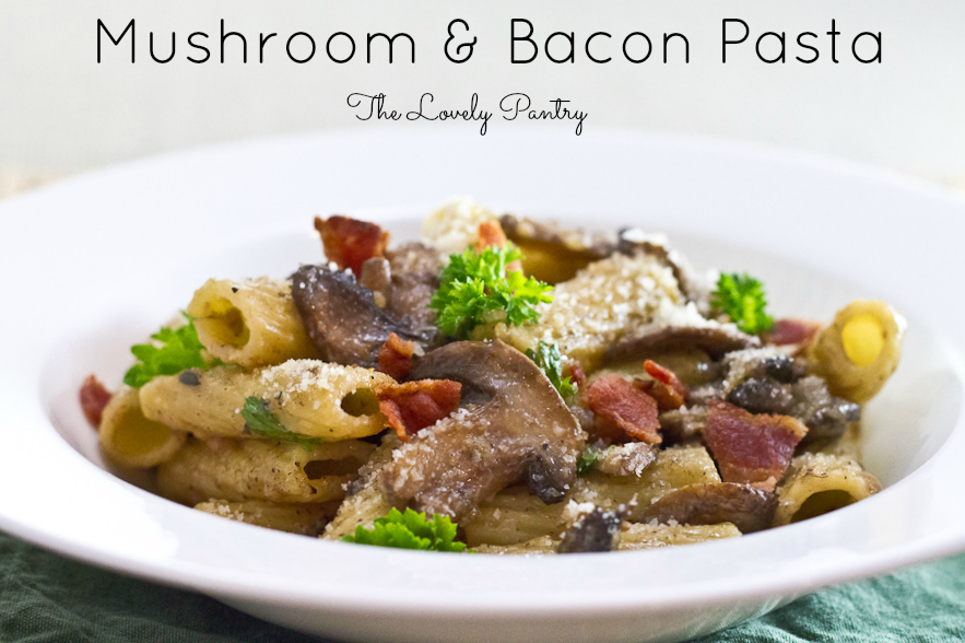 with mushroom and bacon and mushroom pasta bacon and mushroom pasta6 ...