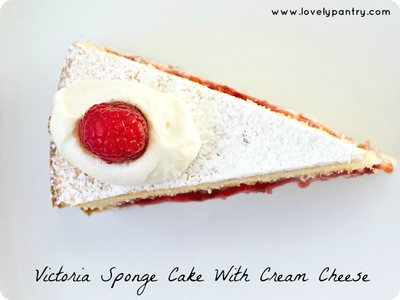 Victoria Sponge Cake With Cream Cheese Slice-1