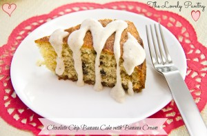Chocolate Chip Banana Cake With Banana Cream
