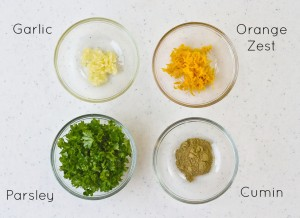 Orange Gremolata Ingredients