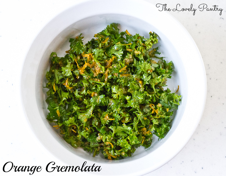 Orange Gremolata - ingredients