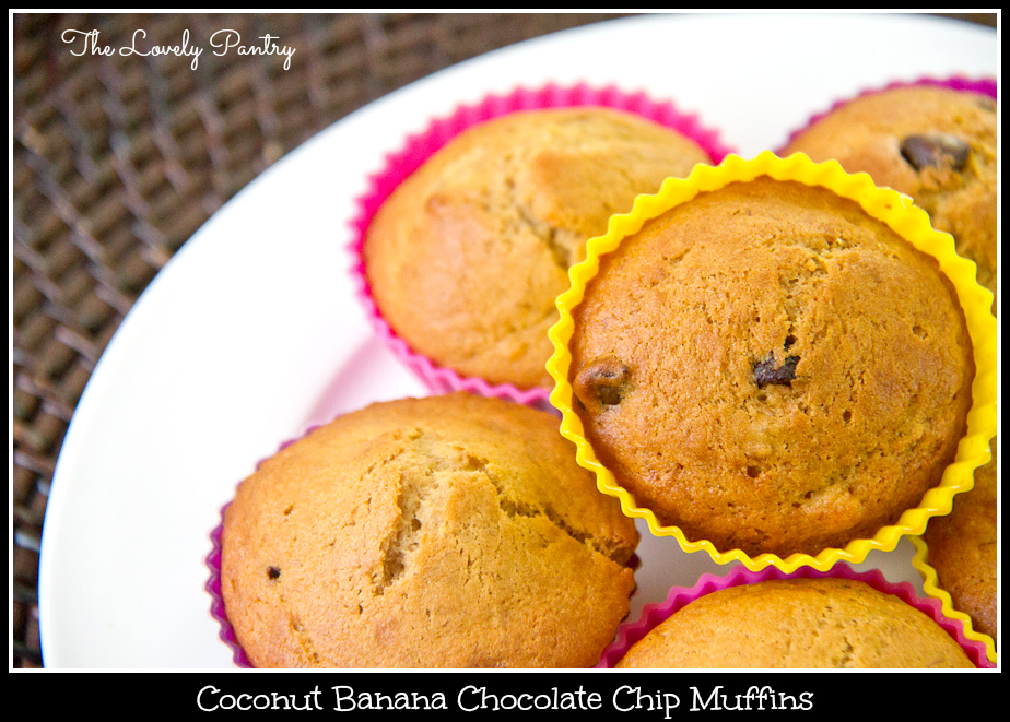 Coconut Banana Chocolate Chip Muffins_1