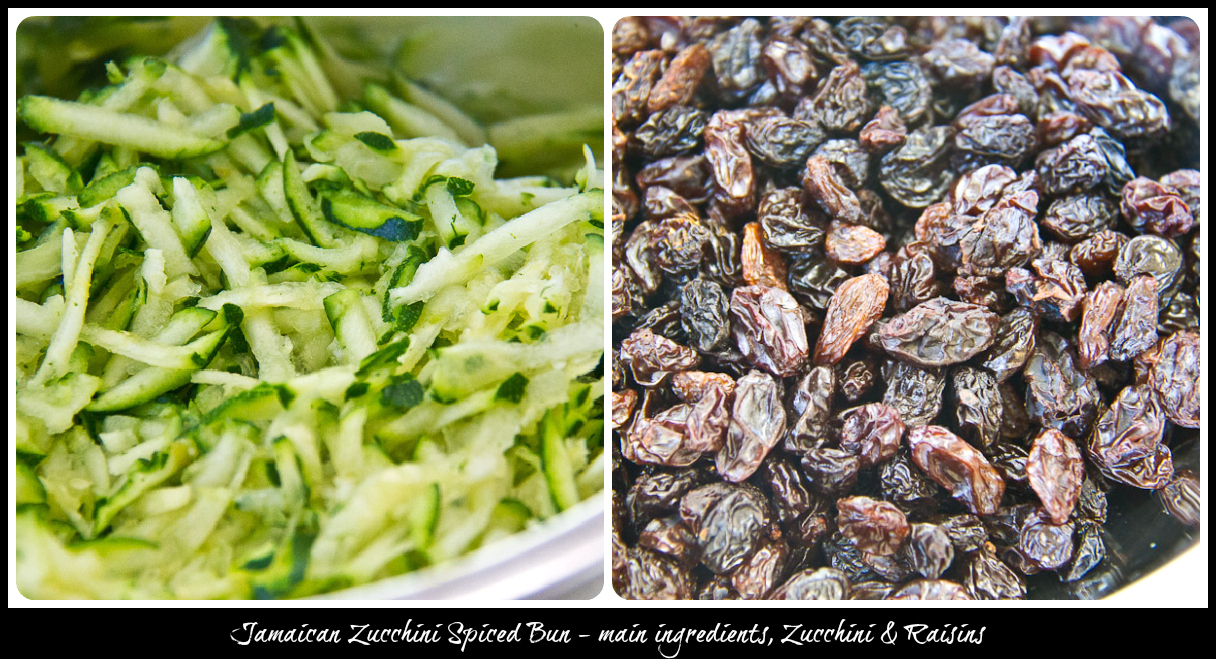 Jamaican Zucchini Spiced Bun - main ingredients (a)