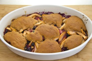 Peach and Berry Cobbler-54