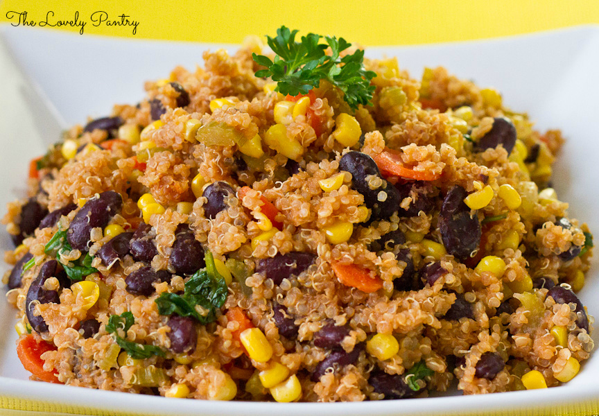 Quinoa and Bean Pilaf_2