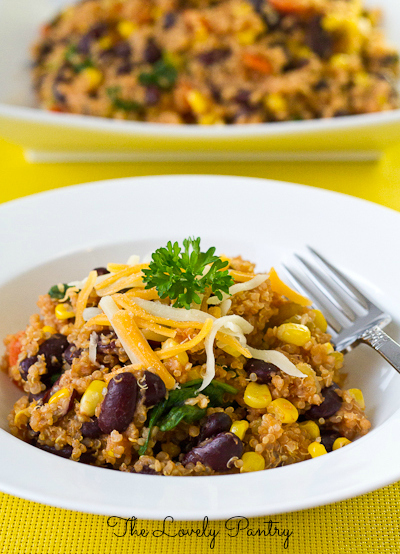 Quinoa and Bean Pilaf_4