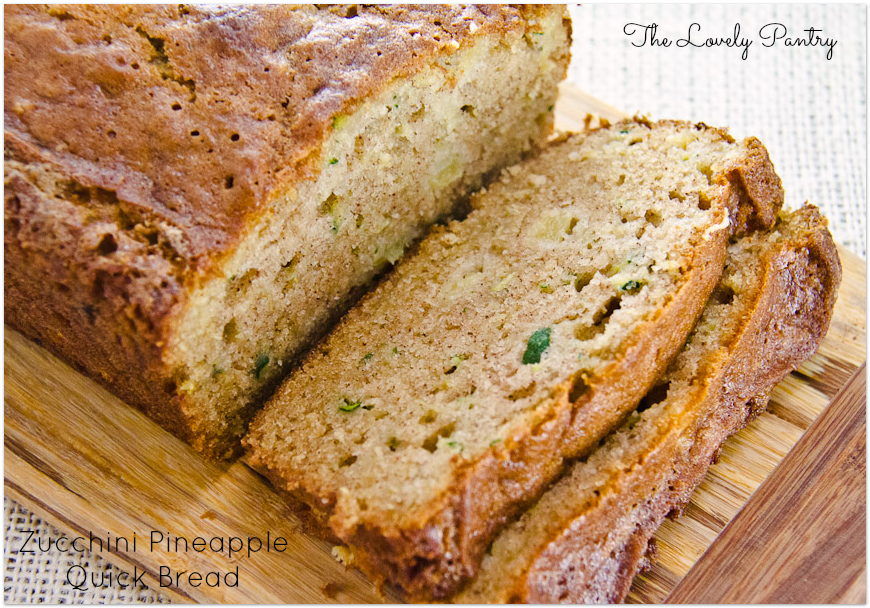 Zucchini Pineapple Quick Bread | Lovely Pantry