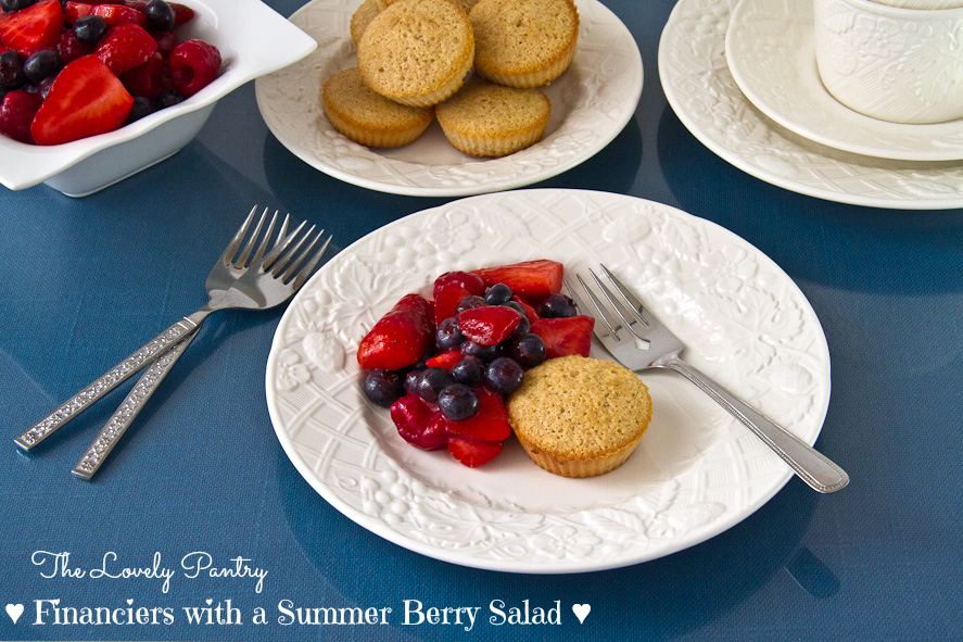 Financiers with Summer Berry Salad_1